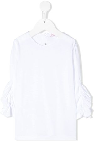 Il gufo Ruffled cropped sleeves blouse - Di colore