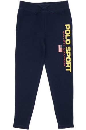 Ralph Lauren Pantaloni In Felpa Di Cotone Con Logo