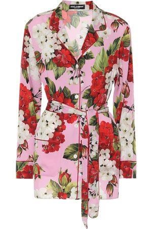 Dolce & Gabbana Camicia in seta stretch