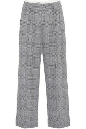 Max Mara Pantaloni Erise in lana principe di Galles