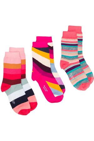 Paul Smith Donna Calze - Set di tre paia di calzini a righe