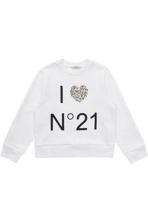N°21 Bambina Felpe - Felpa In Cotone Con Stampa Logo