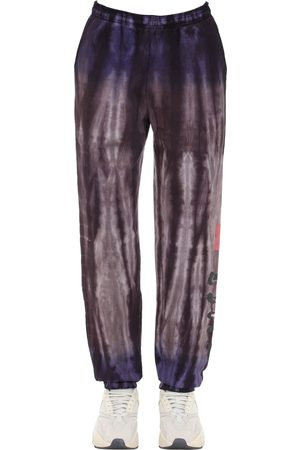 INSOMNIAC Pantaloni In Felpa Di Cotone Tie Dye