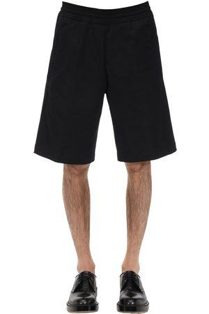 Neil Barrett Shorts Oversize In Tela Di Misto Cotone
