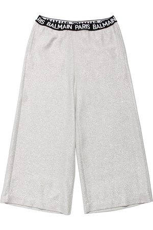 Balmain Pantaloni In Lurex Con Logo