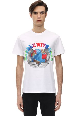"Stella McCartney T-shirt ""handle With Care"" In Cotone"