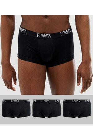 Emporio Armani Uomo Boxer shorts - Confezione da 3 boxer aderenti neri con logo EVA