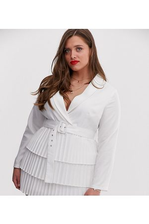 In The Style X Dani Dyer - Vestito stile blazer con scollo profondo e gonna a pieghe