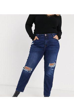 River Island Mom jeans autentico scuro