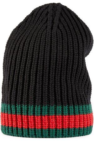 Gucci Cappello in lana con dettaglio Web