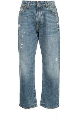 R13 Jeans boyfriend a vita media Bain - Di colore