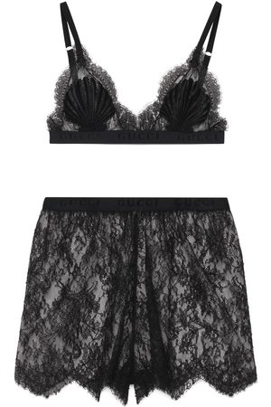 Gucci Set lingerie in pizzo floreale