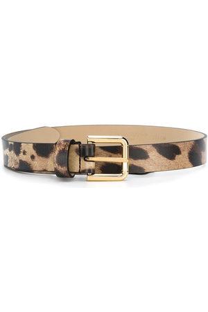 Dolce & Gabbana Cintura con motivo animalier