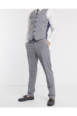 ASOS Pantaloni da abito slim grigio medio-Navy
