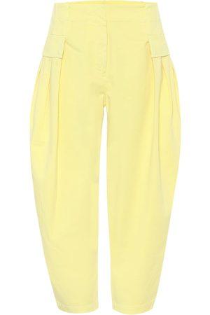 Stella McCartney Pantaloni in cotone stretch