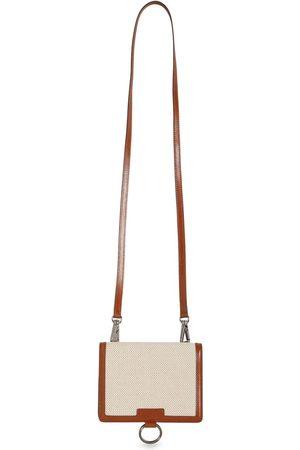 Dolce & Gabbana Portafoglio In Tela E Pelle Con Tracolla