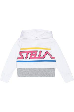 Stella McCartney Felpa in cotone con stampa e cappuccio