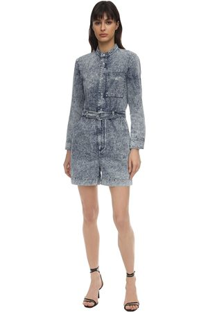 Stella McCartney Tuta In Denim Di Cotone Distressed
