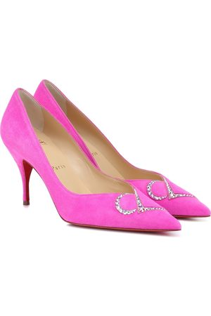 Christian Louboutin Pumps CL 80 in suede con strass