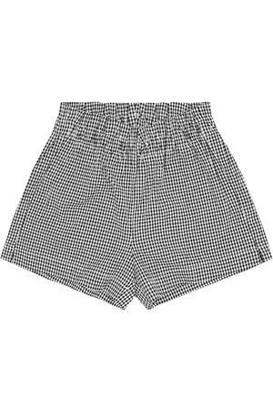 Il gufo Shorts a quadretti in cotone
