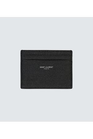 Saint Laurent Porta carte di credito in pelle