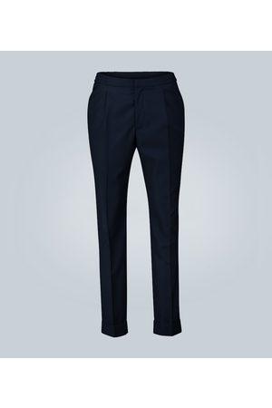 OFFICINE GENERALE Pantaloni in cotone con pieghe