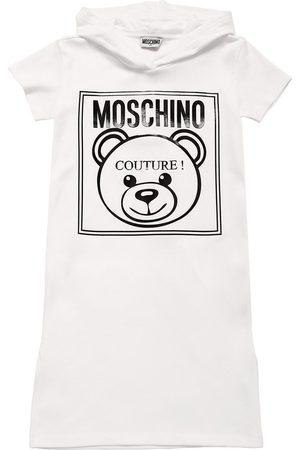 Moschino Abito In Cotone Piqué Con Cappuccio