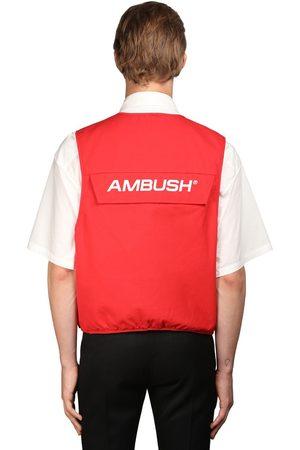 """AMBUSH Gilet """"utility"""" In Cotone Con Logo"""