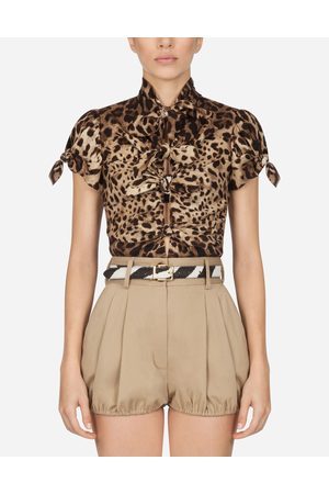 Dolce & Gabbana Donna Top - Collection - TOP IN CHARMEUSE STAMPA LEOPARDO