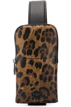 Dolce & Gabbana Borsa a tracolla leopardata - Toni neutri