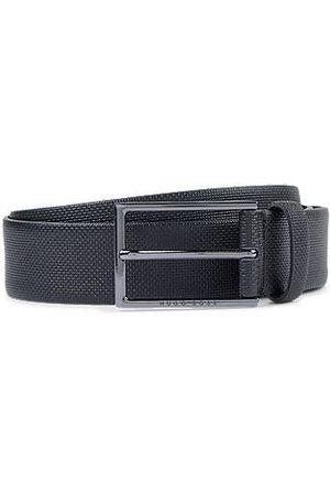 HUGO BOSS Uomo Cinture - Cintura in pelle con dettagli goffrati
