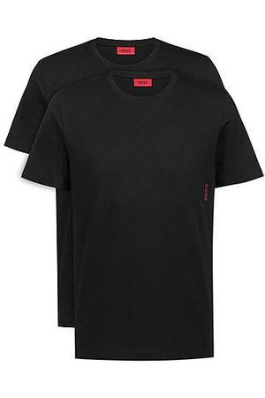 HUGO BOSS Due T-shirt intime in cotone con logo verticale