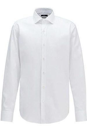 HUGO BOSS Uomo Camicie - Camicia regular fit in twill di cotone robusto