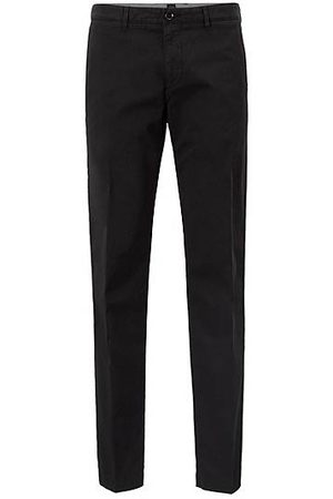 HUGO BOSS Chino regular fit in gabardine di cotone elasticizzato