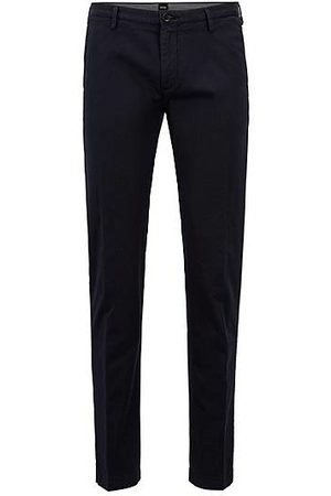 HUGO BOSS Chino slim fit in gabardine di cotone elasticizzato