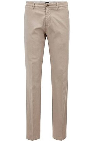 HUGO BOSS Uomo Chinos - Chino regular fit in gabardine di cotone elasticizzato