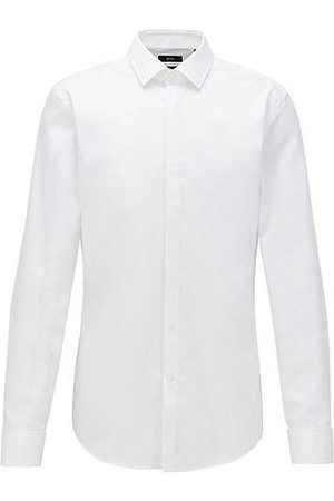 HUGO BOSS Camicia business slim fit in cotone con doppio polsino