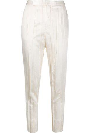 Saint Laurent Pantaloni sartoriali con effetto stropicciato