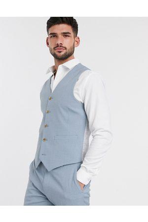 ASOS Wedding - Gilet da abito skinny tenue crosshatch