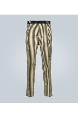 Dolce & Gabbana Pantaloni a righe in cotone e seta