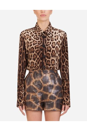 Dolce & Gabbana Collection - CAMICIA IN CRÊPE DE CHINE STAMPA LEOPARDO