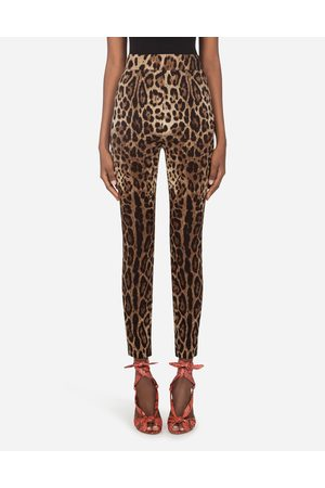 Dolce & Gabbana Collection - LEGGINGS IN CHARMEUSE STAMPA LEOPARDO