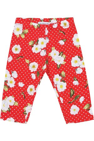 MONNALISA Baby - Leggings a stampa floreale in cotone