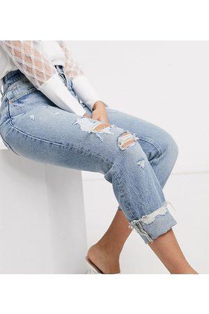 River Island Mom jeans Pop lavaggio medio