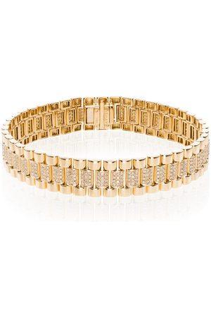 Shay Bracciale a catena in oro 18kt con diamanti - METALLIC