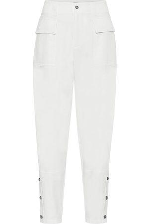 Dolce & Gabbana Pantaloni a vita alta in cotone