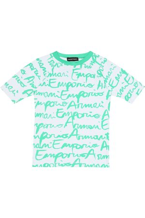 Emporio Armani Bambina T-shirt - Maglia anti-UV a stampa logo