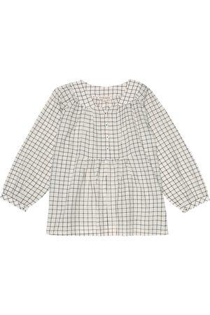 Caramel Bambina Bluse - Blusa Victoria a quadri in cotone