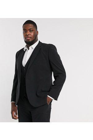 ASOS Plus - Giacca da abito super skinny elasticizzata in quattro direzioni nera