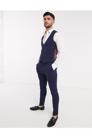 ASOS Gilet da abito super skinny navy elasticizzato in quattro direzioni